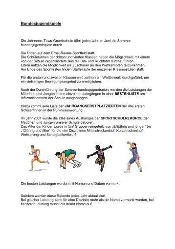 Bundesjugendspiele - Johannes-Tews-Grundschule