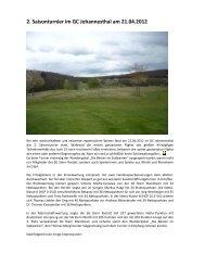 Bericht 2. Saisonturnier GC Johannesthal, 21.04 ... - SG Stern Rastatt