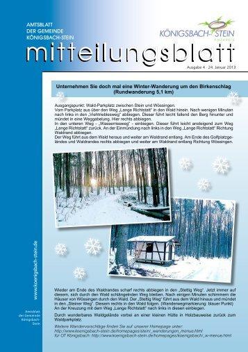 Amtsblatt Ausgabe 04/2013 - Gemeinde Königsbach-Stein