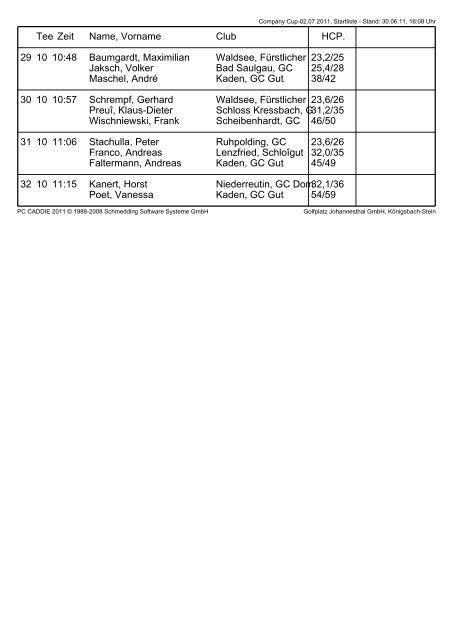 Company Cup - Startliste.pdf - Company Golf Baden-Württemberg
