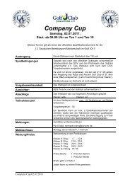 Ausschreibung CGC 110702 GC Johannesthal[...] - Company Golf ...