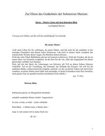 Ad Honorem Beatae Mariae Virginis - Raphael E. Bexten