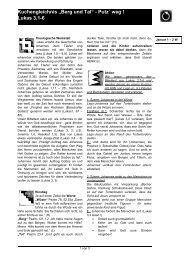 """Kuchengleichnis """"Berg und Tal"""" - Putz´ weg ! Lukas 3,1-6 - Jungschar"""