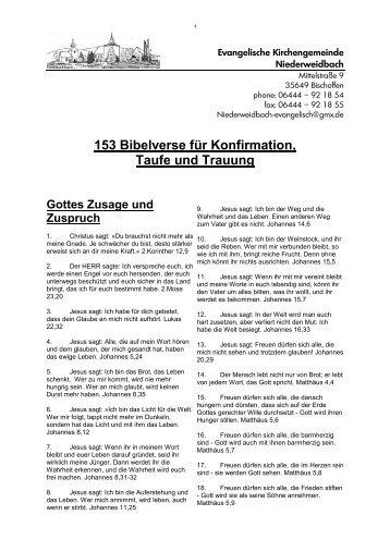 153 Bibelsprüche Für Taufe, Konfirmation Und Hochzeit