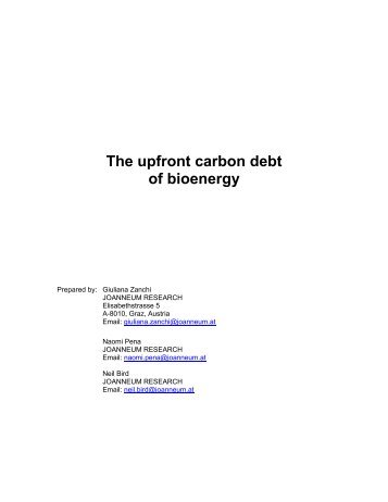 The upfront carbon debt of bioenergy (PDF) - BirdLife International