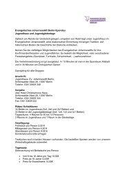 Evangelisches Johannesstift Berlin-Spandau Jugendhaus und ...