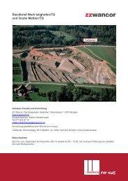 Steckbrief Werk Istighofen/TG und Grube Mettlen/TG - Domoterra