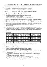 Saarländische Schach-Einzelmeisterschaft 2010 - Saarländischer ...
