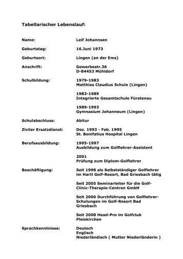 tabellarischer lebenslauf 1969 geboren in kerstin stollnet - Kurzer Lebenslauf