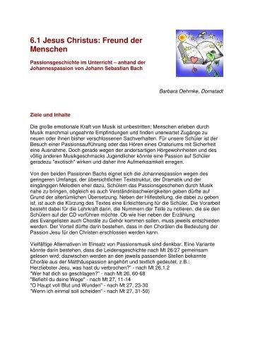 Erarbeitung anhand der Johannespassion ... - RPZ Heilsbronn