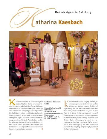 salzburg exclusiv sommer 2011 - Katharina Kaesbach