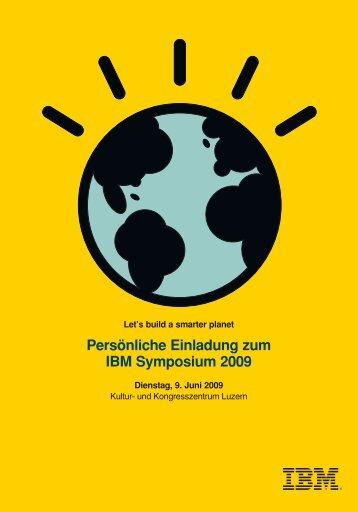 Persönliche Einladung zum IBM Symposium 2009 - Econis AG