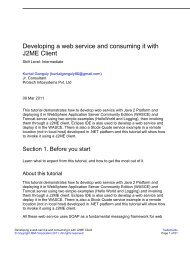 Developing a web service and consuming it with J2ME Client - IBM