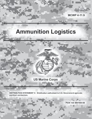 Ammunition Logistics - Public Intelligence