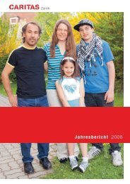 Jahresbericht 2008 - Caritas Zürich