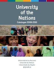 University of the Nations Catalogue 2008-2010 - YWAM Seamill