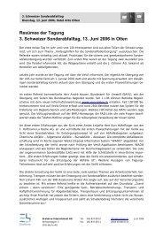 Resümee der Tagung 3. Schweizer ... - Ecoserve International AG