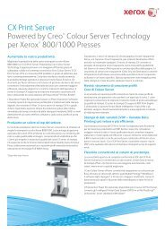 CX Print Server Powered by Creo® Colour Server ... - Xerox