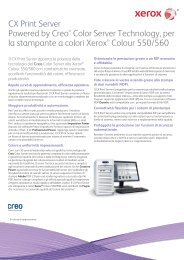 CX Print Server Powered by Creo® Color Server ... - Xerox