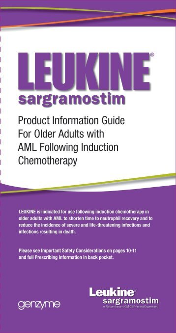 Product Information Guide For Older Adults with AML ... - Leukine.com