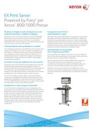 EX Print Server Powered by Fiery® per Xerox® 800/1000 Presse