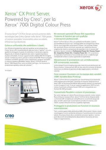 Server di stampa CX, Powered by Creo® per - Xerox