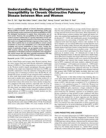 Understanding the Biological Differences in Susceptibility to Chronic ...