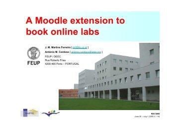 A Moodle extension to book online labs - artecLab