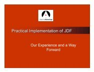 Practical Implementation of JDF - CIP4