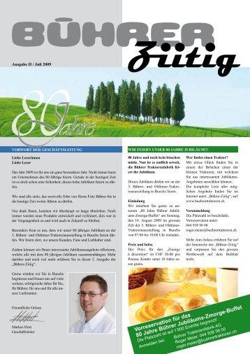 Bührer Ziitig (Ausgabe II / Juli 2009) - Bührer Traktorenfabrik AG