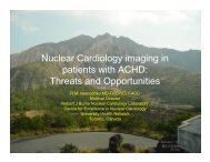 Nuclear Cardiology imaging in patients with ACHD - University ...