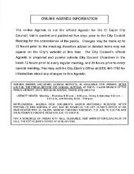 ONLINE AGENDA INFORMATION - City of El Cajon