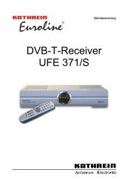 9362627a, Betriebsanleitung DVB-T-Receiver UFE 371/S - Kathrein