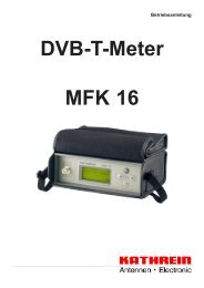 9362751a, Betriebsanleitung DVB-T-Meter MFK 16 - Kathrein