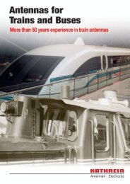 99810496, Antennas for Trains and Buses - Kathrein