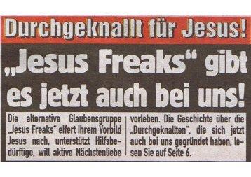 Manu in der Zeitung - Jesusfreaks Aschaffenburg