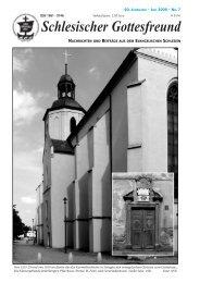 Schlesischer Gottesfreund - Gemeinschaft evangelischer Schlesier