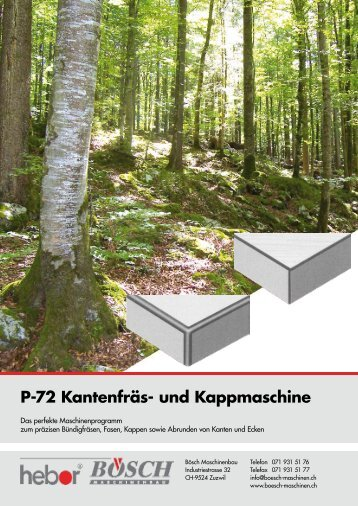 P-72 Kantenfräs- und Kappmaschine - Bösch Maschinenbau