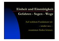 Wodurch Gott Einheit in seiner Gemeinde schenkt.pdf - Helmut Blatt