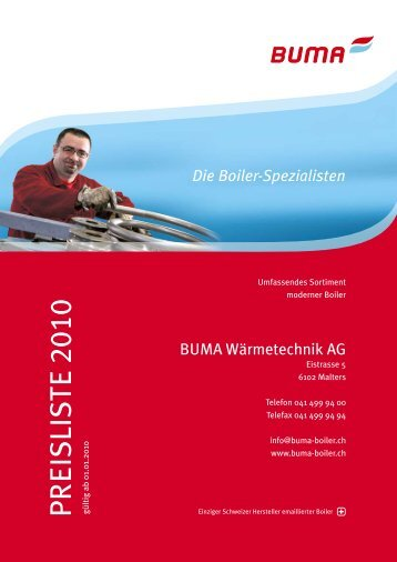 Die Boiler-Spezialisten - BUMA Wärmetechnik AG