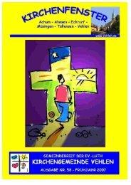 Gemeindebrief - Evangelisch-Lutherische Kirchengemeinde Vehlen