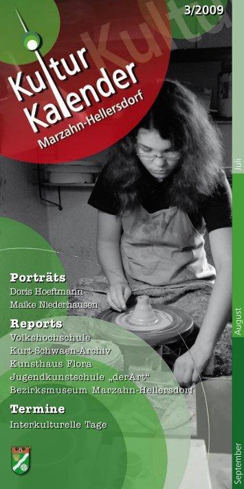 Porträts Reports Termine - Kulturkalender Marzahn-Hellersdorf
