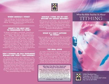 Tithing Brochure PDF - New Salem Missionary Baptist Church