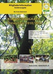 BILDUNGSPROGRAMM - Steiermark 2010/2011