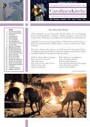 Der aktuelle Gemeindebrief zum Download - Carolinenkirche in ...