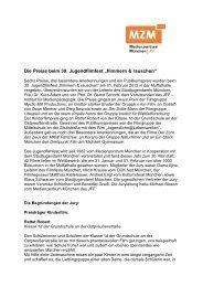 """Die Preise beim 30. Jugendfilmfest """"flimmern & rauschen"""" - JFF"""
