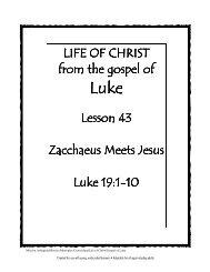 Lesson 43: Zacchaeus Meets Jesus - Mission Arlington