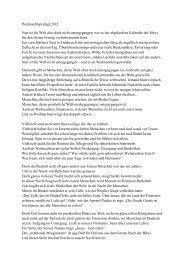 Predigt zu Weihnachten 2012 - Kath. Kirchengemeinde St ...