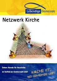 Hauskreismaterial Netzwerk Kirche - Lebendige Gemeinde