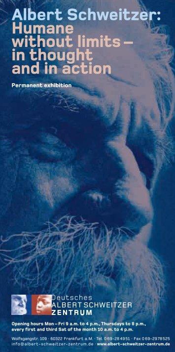 Albert Schweitzer: Humane without limits - Deutsches Albert ...